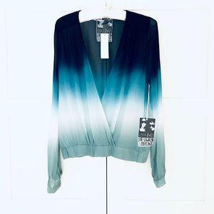 NWT Young, Fabulous & Broke Blue Ombré Shirt